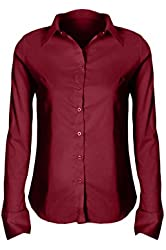G2 Chic Women's Button Down Solid Shirts