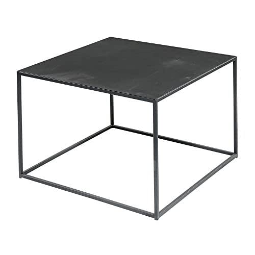 Black Steel Square Coffee Table 24 Inches