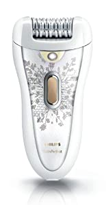 Philips HP6576 Satin Perfect Deluxe Epilator, White/Champagne