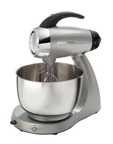 Sunbeam 2347-030 Heritage Series 12-Speed Stand Mixer, Silver front-602534