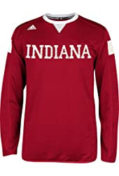 Indiana Hoosiers Adidas 2014 Red Sideline Climalite Long Sleeve T-Shirt