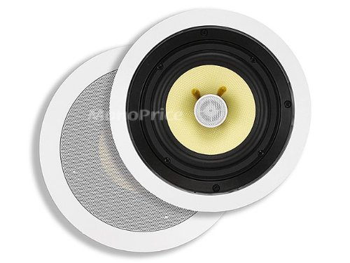 Monoprice 104104 8-Inch Kevlar 2-Way In-Ceiling Speakers (Pair)