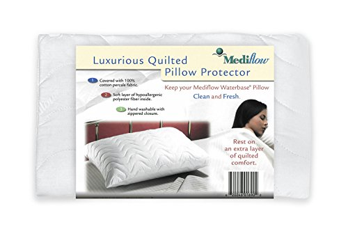 Mediflow 200 Thread Count Quin Size Quilted Pillow Cover (Pillow Case Quilted compare prices)