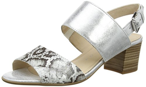 Gabor Avila - Sandali donna, Multicolore (Black Snake/White Leather), 41.5 EU