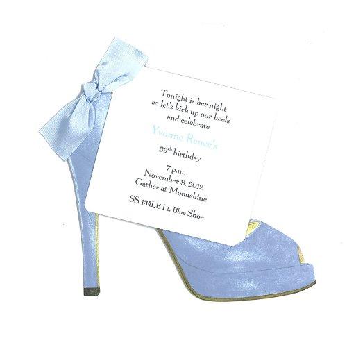 High Heel (Light Blue) Shoe Die-Cut Card, Pack Of 10 front-273439