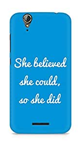 AMEZ she believed she could so she did Back Cover For Acer Z630S
