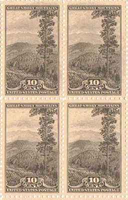 Great Smokey Mountains Set of 4 x 10 Cent US Postage Stamps NEW Scot 749