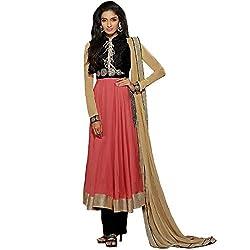 Vasu Saree For Women Pink Cotton Resham Work Anarkali Salwar Suit