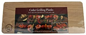 Natures Cuisine Nc004-2 14 By 5-12-inch Cedar Outdoor Grilling Plank 2-pack by Nature's Cuisine