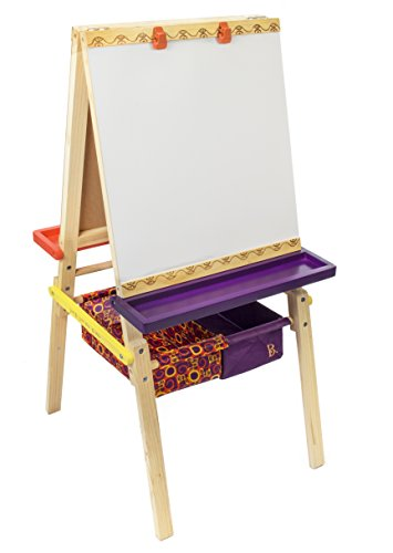 B-Toys-Easel-Does-It-Folding-Wooden-Art-Easel-with-Chalkboard-Whiteboard-and-Storage-Bins