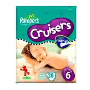 Pampers Cruisers, Size 6, 20-Count (Pack of 6)