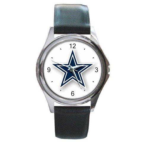 NFL Dallas Cowboys Graphic Logo Round Metal Watch