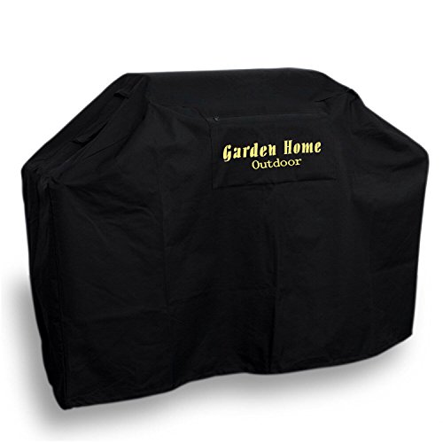 """Garden Home Heavy Duty 72"""" Grill Cover (BLACK, 72 INCH With Brush)"""