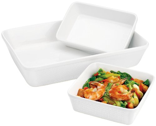 Home Essentials 3-pc Bakeware Set, White
