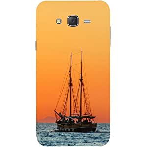 Casotec Sailing Boat Design Hard Back Case Cover for Samsung Galaxy J7