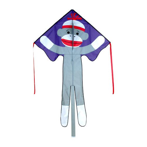 46in Sock Monkey - Large Easy Flyer Kite - Best kite for kids!