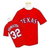 (マジェスティック)Majestic MLB レンジャーズ #32 ジョシュ・ハミルトン Youth Player Tシャツ (レッド)