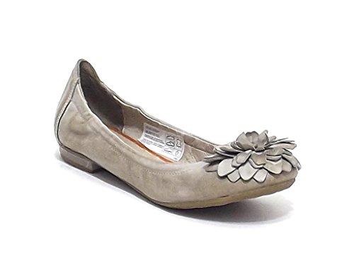 Manas Lea Foscati scarpa donna, ballerina in pelle, colore grigio fumo