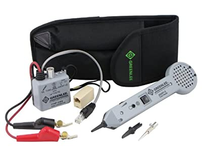 Greenlee 701K-G/6A Professional Tone and Probe Tracing Kit, Standard with ABN Test Clips from Greenlee