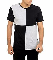 Younsters Choice Men's Cotton T-Shirt (YC-5820_Black Grey _X-Large)