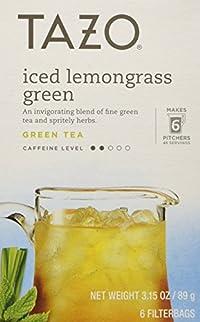 Tazo - Iced Lemongrass Green Tea - 6 Tea Bags (item is 3.15 oz)