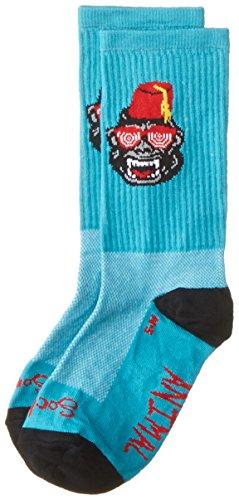 SockGuy Men's Party Animal Socks, Light Blue, Large/X-Large (Party Supplies Burlington)