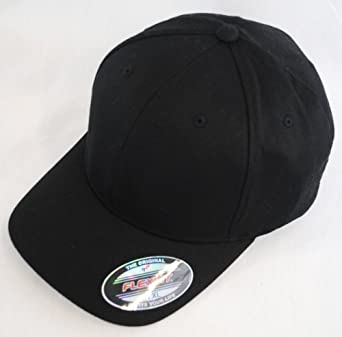 New Plain Flexfit Baseball Cap - Black - Size S/M