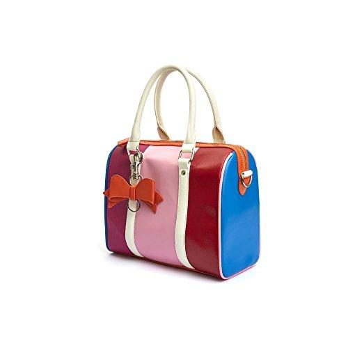 Lola Ramona - Borsa modello bowling uomo , Multicolore (Multicolore),