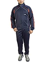 TROOS Men's Polyester Tracksuit(TS21003_Navy)