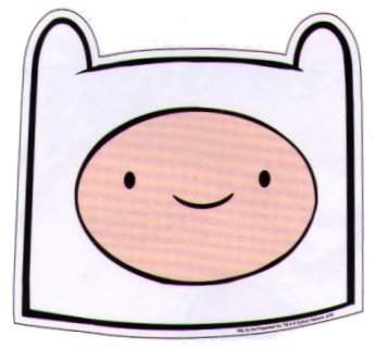 Adventure Time Finn Face Sticker