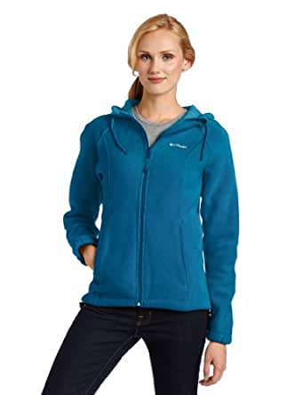 Columbia Women's Benton Springs Hoodie, Dark Turquoise, X-Small