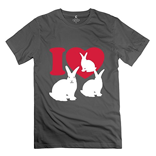 Tgrj Men'S Tee - Cute Love Rabbits T Shirt Deepheather Size Xs