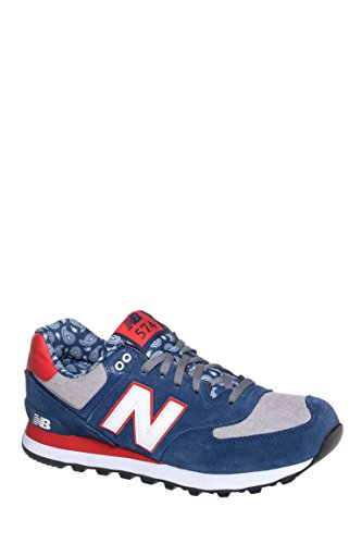Men's Blue Bandana ML574 Low Top Sneakers