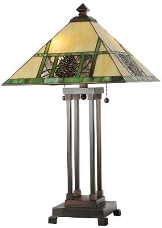 "Meyda Lighting 103380 25""H Pinecone Ridge Table Lamp"