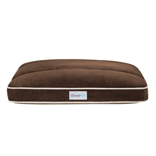 Beautyrest Channel Top Pet Napper Bed, 27 By 36-Inch, Brown front-948639