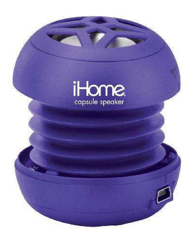 Ihome Ihm7 Rechargeable Mini Speaker For Ipod (Purple)