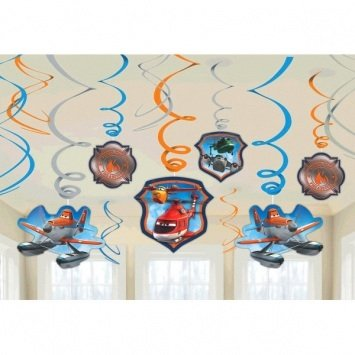 Disney Planes 2 Value Pack Foil Swirl Decorations - 12 pcs