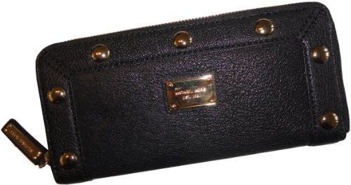 MICHAEL Michael KorsWomen's Michael Kors Delancy Continental Leather Zip Around Wallet Black