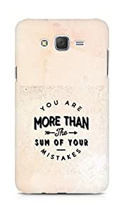 AMEZ you are more than the sum of your mistakes Back Cover For Samsung Galaxy J7
