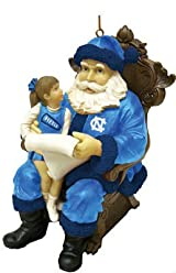 Wishlist Santa Ornament-N Carolina