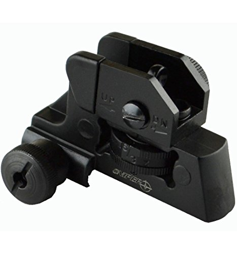 SNIPER® Complete Rear Sight with Windage/Elevation Adjustment and Tactical Picatinny Mounting Deck (Ar Quad Rail Carbine Free Float compare prices)