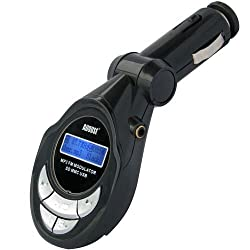 August CR100 FM Transmitter with 3.5mm In / USB Port / Card Reader - In Car MP3 Player for Smartphones and Tablets - Apple / Android / Blackberry Compatible