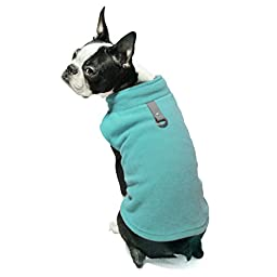 Gooby Every Day Fleece Cold Weather Dog Vest for Small Dogs, Turquoise, Large