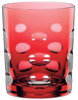 Nachtmann Skin Tumbler/Double Old Fashioned Glass, Gold-Ruby