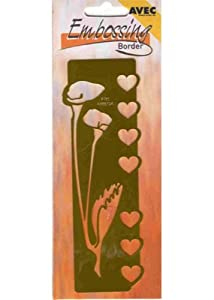 Ecstasy Crafts Embossing Border Stencil-Hearts And Calla Lily
