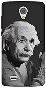 The Racoon Grip Albert Einstein hard plastic printed back case/cover for Vivo Y21