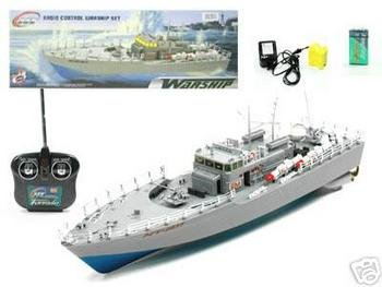 "20"" RC Boat Navy Battle Ship HT-2877 (Color and Exact Model May Vary)"