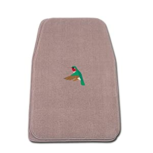 Beige Universal Fit Front Two Piece Floormat with HUMMINGBIRD Logo