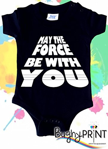 BODY tutina pagliaccetto bimbo neonato Star Wars Darth Vader May the force be with you 3 mesi