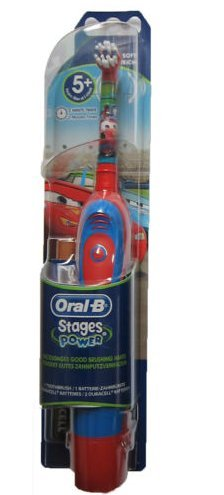 New Braun Oral-B Db4510K Stages Power Disney Cars Toothbrush For Boys +Batteries